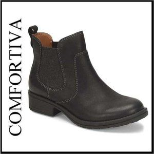 NWT Comfortiva Blk Seneca Leather Ankle Boot 7.5M